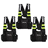 Retevis HB02 Universal Radio Chest Harness Bag Pocket Pack Holster with Front Pouches and Zipper Bag for Two Way Radio Recon Chest Rig(Rescue Essentials,3Pack)