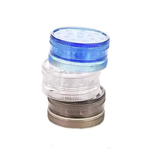 2 Stück Mini Grinder aus Hartacryl, 2 schichtig, ideal als Camping Gewürzmühle, Random Color, 2,5 * 1,5cm
