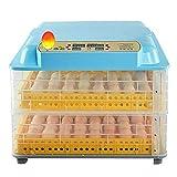 Incubatrice per Uova Rotazione Automatica 84 Uova Controllo della Temperatura Incubatrice per pollame per polli Anatre Uccelli Famiglia Uso agricolo Facile da osserv