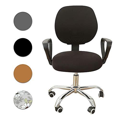 F Fityle Bezug für Bürostuhl, Husse für Bürodrehstuhl Drehstuhl Schreibtisch Stuhl - Schwarz