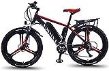 RDJM Bici electrica 350W 26 pulgadas bicicleta eléctrica Montaña Beach moto de nieve for adultos, aluminio Scooter eléctrico engranaje Ebike con 36V 13Ah extraíble de iones de litio de la montaña E-bi