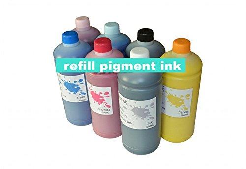 Gowe Refill Pigmenttinte. Nachfüllbar Tintenpatrone und Chip-Resetter für Epson Pro 7600Drucker Tinte Refill Kit