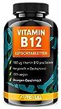 Vitamin B12 Lutschtabletten 1000µg (mcg) aktives Methylcobalamin B12 - Orange-Geschmack - vegan & hochdosiert - 240 vegane Tabletten zum Lutschen - Ohne Zuckerzusatz - mit Xylit gesüßt - ProFuel