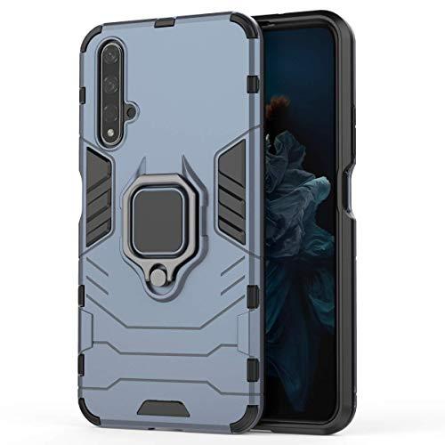 XIFAN Hülle für Huawei Nova 5T / Honor 20s [Strapazierfähig] Ring Ständer, [Funktioniert Mit Magnetischer Autohalterung] Hülle Schutzhülle, Blau