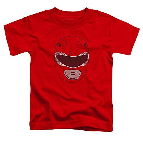 Power Rangers - - Los niños pequeños Ranger Rojo de la máscara de la camiseta