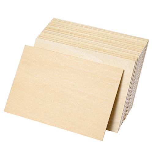 EXCEART 15 Stück Holzstücke für Kunsthandwerk DIY Unvollendete Holz Linde Bastelbrett für Kunsthandwerk Bildungsgebäude