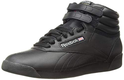 Reebok Women's Freestyle Hi Walking Shoe, Black, 9