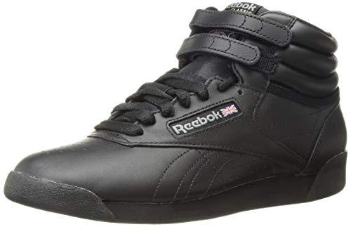 Reebok Women's Freestyle Hi Walking Shoe, Black, 9.5