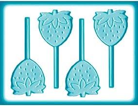 قوالب صناعة حلوى الفراولة 8H-1333 من منتجات سي كيه كيه- شفافة 22.86 سم × 15.24 سم
