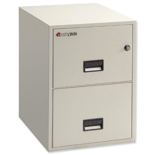 Sentry 5000Trident classificatore 1HR Fire Safe 2cassetti W498x D797x H701MM Grigio Ref 2G2530L