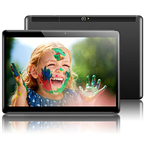 QIMAOO 10.1 Inch Tablet Android 10, Octa-core 4GB RAM 64GB ROM, Google GMS Certified, WiFi, 4G LTE Dual SIM card Slots, Cameras, GPS, HD Glass Screen, Metal Housing, Type-C Charging- Q10 Plus