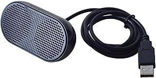 UKHONK Mini USB Lautsprecher Tragbarer Lautsprecher Powered Stereo Multimedia Lautsprecher für Notebook Laptop PC(Schwarz)