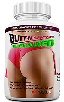 BUTTHANCER Loaded The Natural Butt Enlargement & Butt Enhancement Pills Glutes Growth and Bigger Booty Enhancer Pills Plus Skin Tightener 90 Tablets