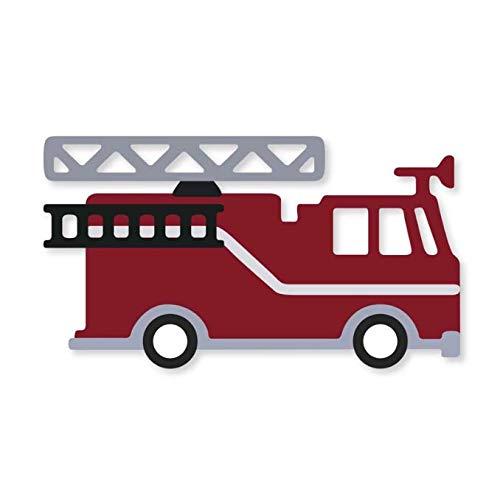 ZGWS Feuerwehrauto Metall Stanzformen Scrapbooking Handwerk Stanzformen Dünne Papierkunst Prägekarte Machen Schablone 85 * 67 Mm