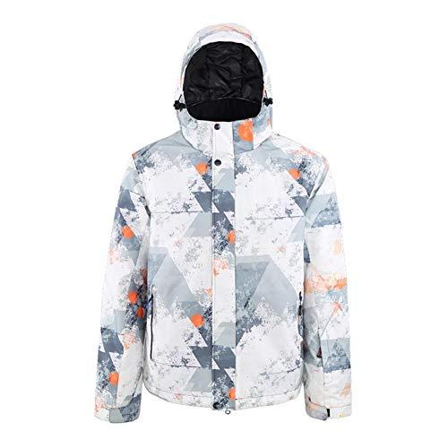 YABAISHI Herren-Ski-Mantel Windsicher warme Starke Multicolor Skijacke Skateboard Jacke Berg Mantel (Color, Size : XXXL)