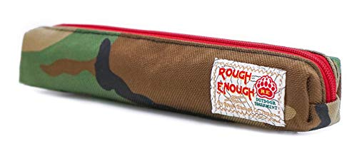 Rough Enough Thin Slim Small Japanese Pencil Case Pouch for Kids Boys Girls Adults School Stationary Art Supplies for College Students Teacher Office