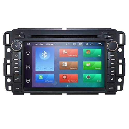 8 Core ROM 64GB Android 9.0 Car DVD Player for GMC Silverado 1500 Sierra 7 inch Octa Core Double Din in Dash Touchscreen Radio GPS Stereo Audio Video Receiver Navigation Bluetooth