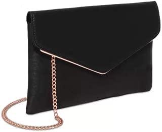 Black Saffiano Samantha Clutch Bag
