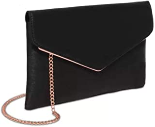 Black Saffiano Samantha Clutch Bag