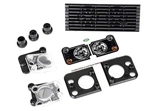 Traxxas 8013Land Rover Defender Grill/Scheinwerfer Gehäuse/Objektive/Reittiere (passt # 8011Körper)