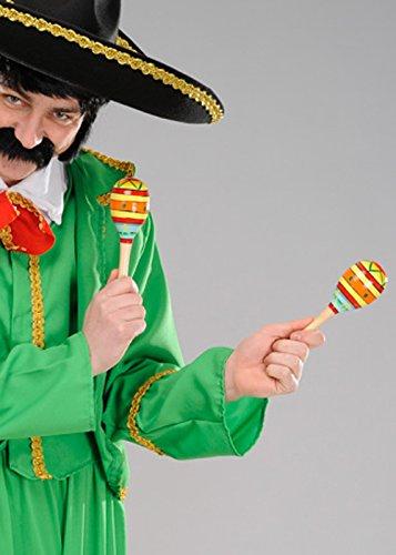 Beistle Maracas Madera mexicanas Brillantes Deluxe