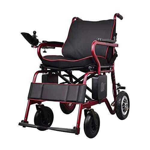 MOM Rollstuhl Roller 2020 Vollautomatischer Elektrischer Rollstuhl Faltbarer, Intelligenter Controller Mit Lcd-Display, Einhand-Hebebühne Ultraleichter Elektrischer Rollstuhl, Tragbarer Elektrischer