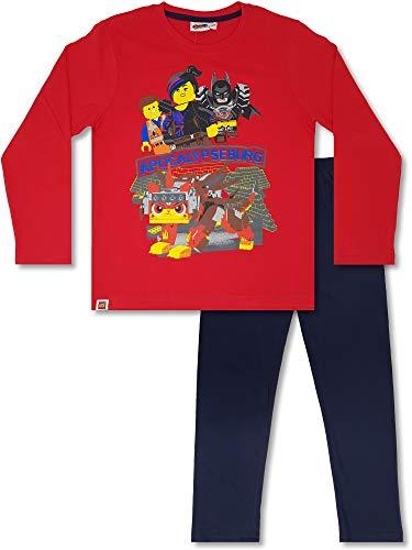 Lego Wear - 2-TLG. Jungen Schlafanzug lang, Pyjama für Boys, Rot (122/128 (Herstellergröße 6-7 Jahre))