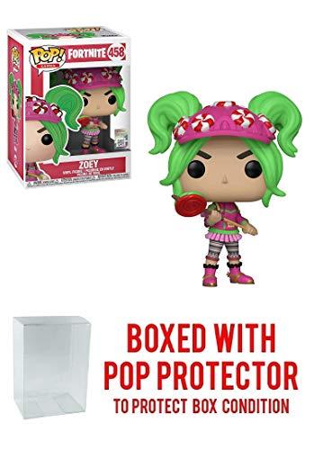 Funko Zoey: Fortnite x POP! Games Vinyl Figure & 1 POP! Compatible PET Plastic Graphical Protector Bundle [#458 / 36019 - B]