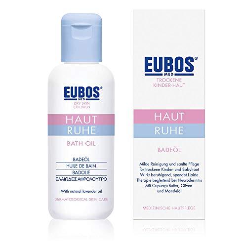 Eubos | HAUT RUHE Badeöl | 125ml | für empfindliche und trockene Kinder- und Babyhaut | Hautvertäglichkeit dermatologisch bestätigt | dermatologisches Pflege- und sanftes Reinigungsprodukt