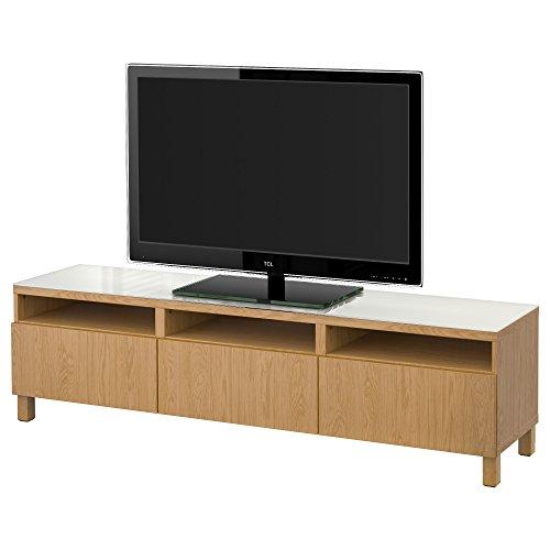 IKEA BESTA - Banc TV avec tiroirs Lappviken effet de chêne