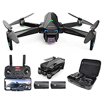 aovo Pro66 GPS Drone with 4K UHD Camera for Adults, 2 Batteries of 60 Minutes Flight Time,Quadcopter with Brushless Motor, Auto Return Home, Follow Me and Waypoint Flight for Beginners