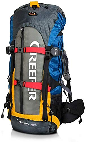 Jsmhh CREEPER Hiking Backpack 60L Trekking Rucksacks Waterproof Hiking Mountaineering Camping Internal Frame Pack with Rain Cover for Men Women