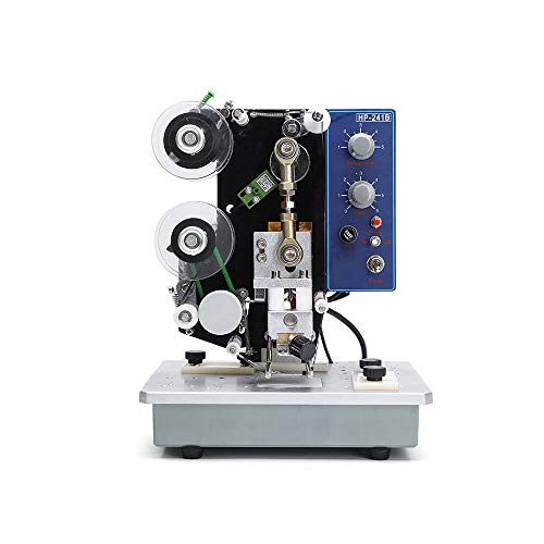 Sumeve Electric Ribbon Printing Machine Date Coding Machine 200W Semi-Automatic Electric Color Ribbon Marking Date Printer Hot Stamp Printer Machine 110V