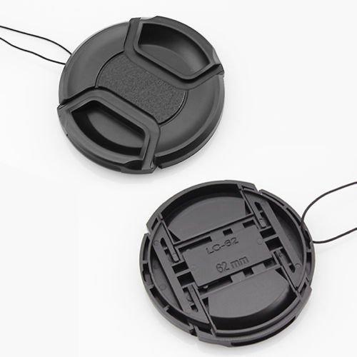 buytra - Cubiertas de protección del objetivo para cámara Nikon, Tamron, Sigma, Sony y Canon (62 mm)