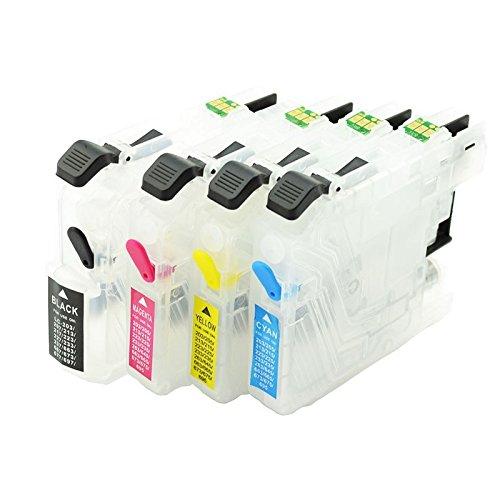 LC-223 lege navulbare cartridges met auto-reset chips voor Brother printers