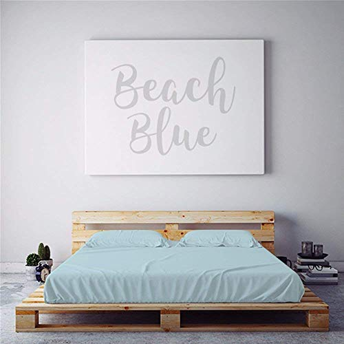 Night Sweats: PeachSkinSheets Beach Blue 1500tc Soft Sheet Set - Regular King