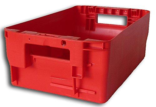 Postkiste Gr. 15 rot, Briefbehälter, Postbehälter, Stapelbox