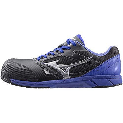 [ミズノ] 安全靴 オールマイティ LS 軽量 紐 JSAA・普通作業用(A種) ブラック×シルバー×ブルー 27 cm 3E