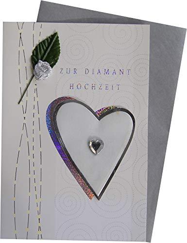 bsb Glückwunschkarte 60 zur Diamantene Hochzeit 73-1026/1