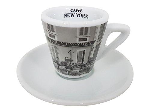 New York Caffe Bar Espresso Tasse mit Unterteller