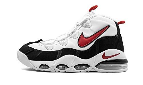 Nike Air Max Uptempo '95 CK0892 para hombre, negro (negro, rojo, blanco (White/University Red-Black)), 40.5 EU