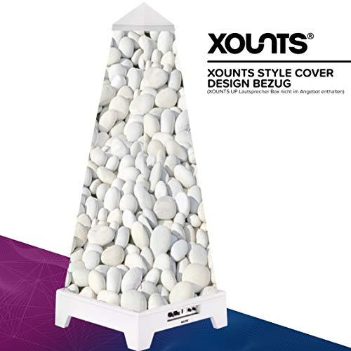 XOUNTS Style Cover 'Pebble' – Premium Flies-Cover für XOUNTS UP Musikanlage – Design-Cover mit hellem Kieselstein-Motiv – Als Zubehör für XOUNTS UP Lautsprecher