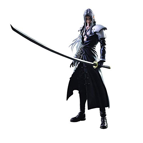 siyushop Final Fantasy Advent Children: Sephiroth Play Arts Kai Action Figure - Sephiroth Action Figuras - Equipados con Armas, Alas Y Manos Reemplazables - Alta 27 Cm (versión No Original)