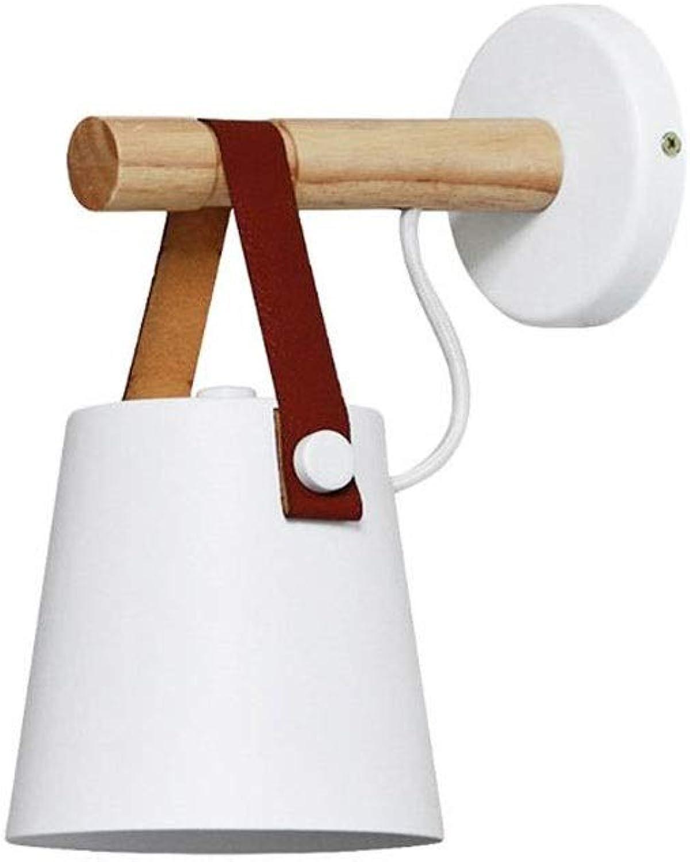 LifeX Kreative Nordic Horn Form Wandleuchte Moderne Schlafzimmer Nachttischlampe Aus Holz Wandleuchte Beleuchtung Treppe Gang Schmiedeeisen E27 Wand Laterne Leuchte, Gürtel Deco (Farbe   Weiß)