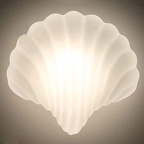 LCTCDY Vintage rétro magnifique décoration de verre et blanc avec Creative Design Shell, décor de chambre à coucher vue mer de la mer (Couleur : Coquille, taille : 245MM*234MM)