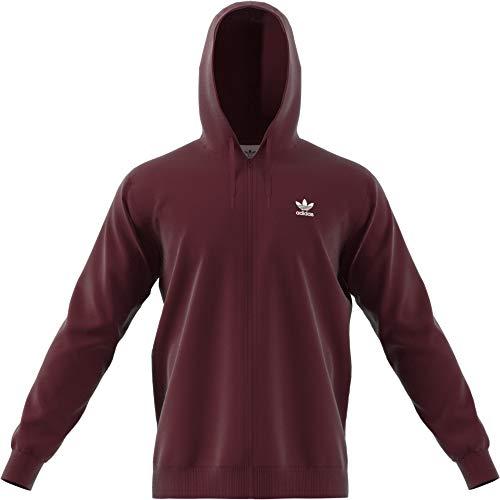 adidas TRF FLC Hoodie, Sweatshirt mit Kapuze für Herren S Maroon