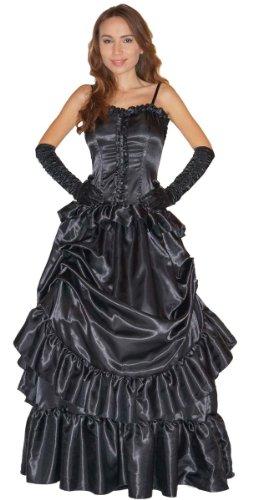 MAYLYNN Edel Vampirin Vampirkostüm Barock mit Handschuhen - schwarz, Gr. M