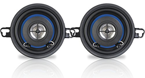 """Peiying PY 3510C 2 Wege Coax Auto-Lautsprecher - 3,2\"""" 60 W - 2 Stück, schwarz blau"""
