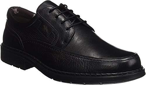 Fluchos Clipper, Zapatos de Cordones Derby Hombre, Negro (Negro 000), 44 EU