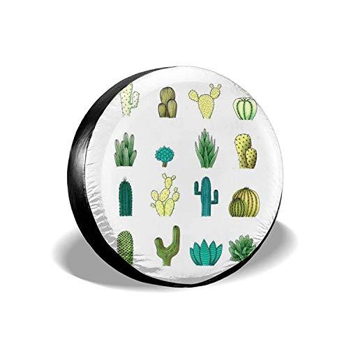 MODORSAN Desert Cactus - Cubierta Universal para Llantas de Repuesto, Impermeables, a Prueba de Polvo, Protectores de Llantas Personalizados para Jeep, remolques, RV, SUV y Camiones, 15 Pulgadas